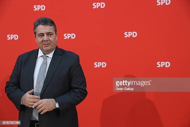 German Vice Chancellor and Economy and Energy Minister Sigmar Gabriel who is also Chairman of the German Social Democrats arrives for a meeting of...