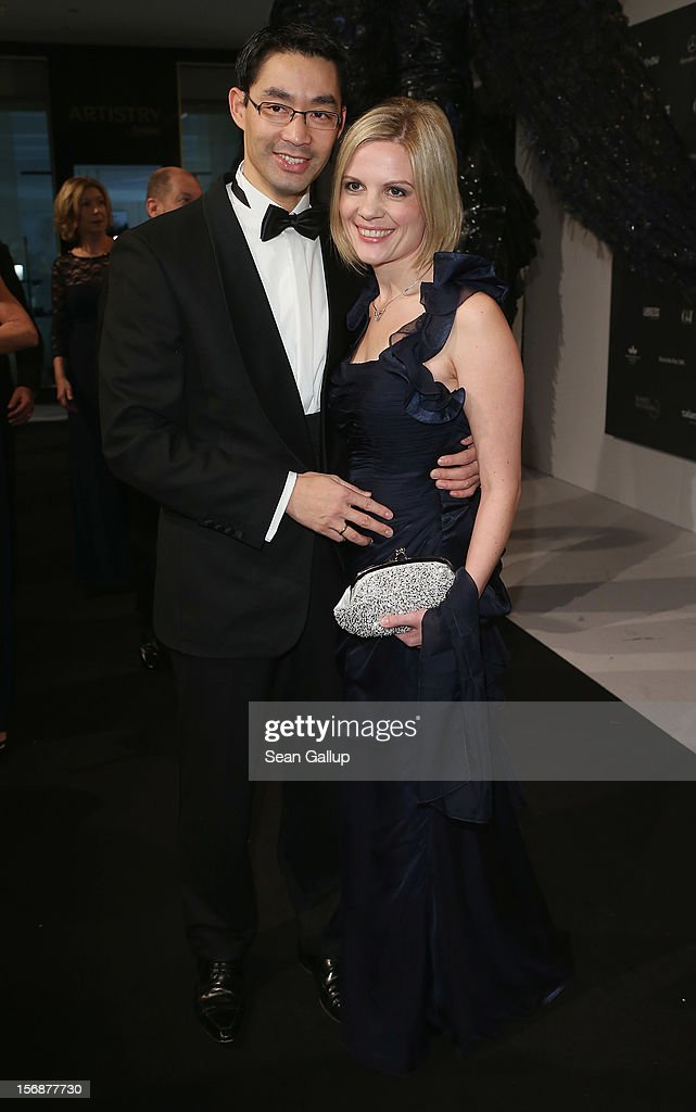 German Vice Chancellor and Economy Minister Philipp Roesler and his wife Wiebke attend the 2012 Bundespresseball (Federal Press Ball) at the Intercontinental Hotel on November 23, 2012 in Berlin, Germany.