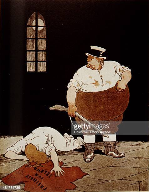German view of John Bull's treatment of Ireland Cartoon from 'Meggendorfer Blatter' 2 May 1916