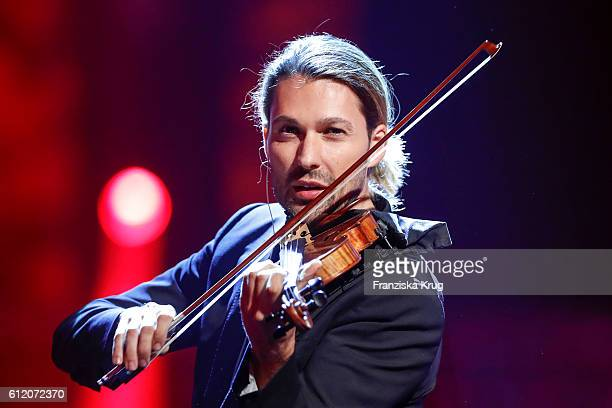 German violinist David Garrett during the tv show 'Willkommen bei Carmen Nebel' at Velodrom on October 1 2016 in Berlin Germany