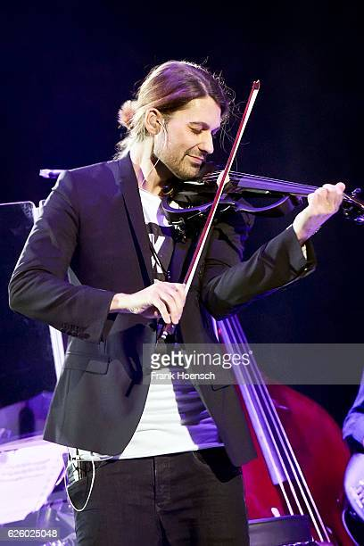 German violinist David Garrett performs live during a concert at the MercedesBenz Arena on November 26 2016 in Berlin Germany