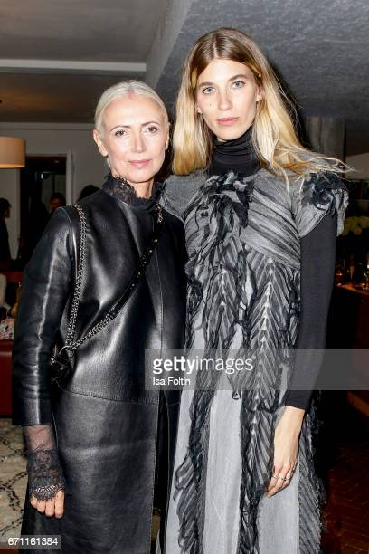 German Vogue chief editor Christiane Arp and model stylist and blogger Veronika Heilbrunner during the Chanel popup store opening at Soho House on...