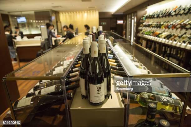 German wines sit on display at the Isetan Shinjuku department store operated by Isetan Mitsukoshi Holdings Ltd in Tokyo Japan on Tuesday July 11 2017...