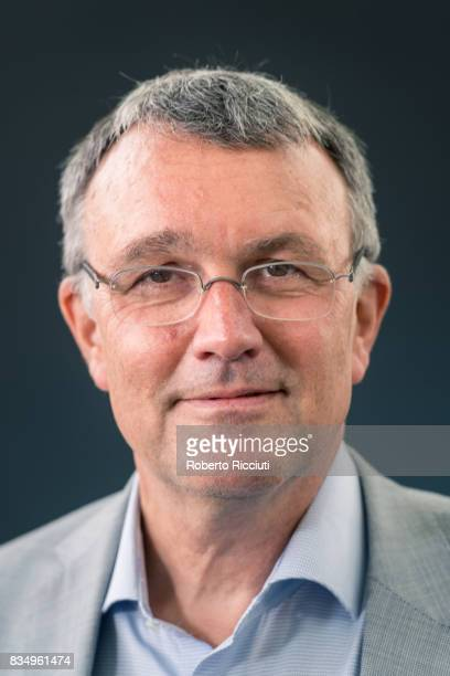 German writer and journalist Michael Luders attends a photocall during the annual Edinburgh International Book Festival at Charlotte Square Gardens...