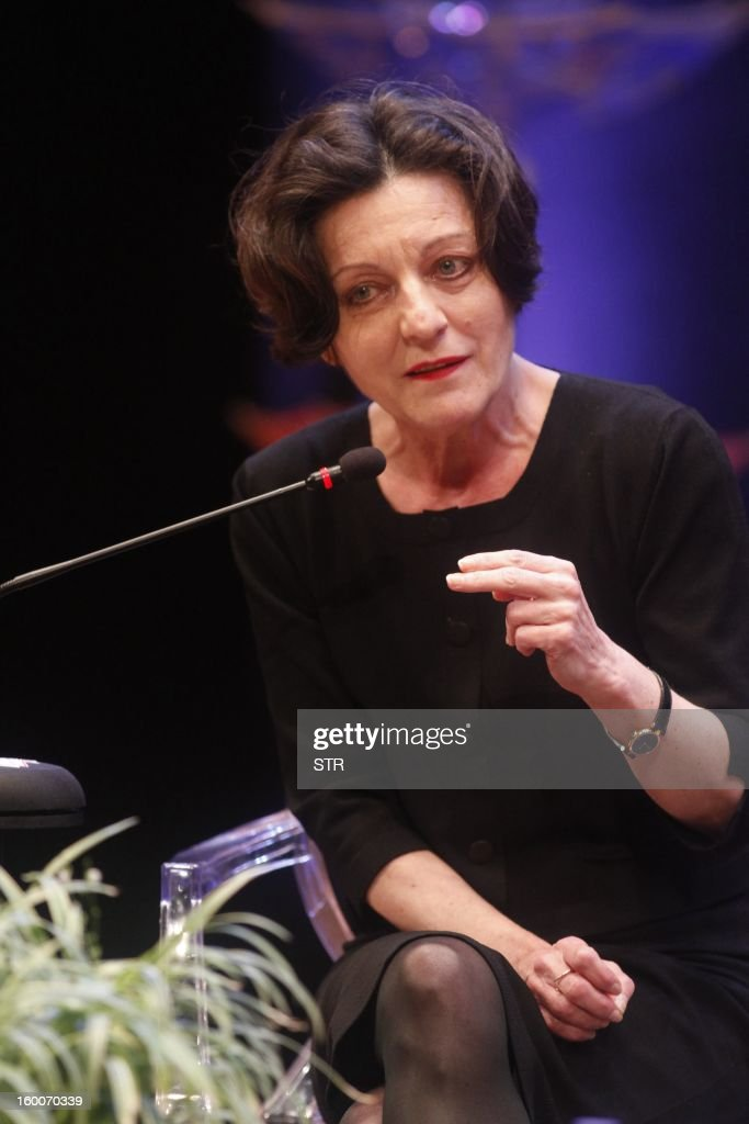 German writer and Nobel Literature Prize recipient Herta Müller, takes part in the 8th annual Hay Festival in Cartagena de Indias, Colombia, on January 25, 2012.