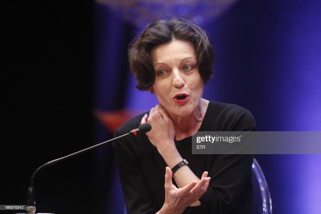 German writer and Nobel Literature Prize recipient Herta Müller, takes part in the 8th annual Hay Festival in Cartagena de Indias, Colombia, on January 25, 2012. AFP PHOTO/STR