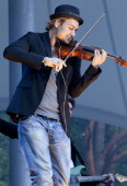 GermanAmerican violinist David Garrett performs live during a concert at the Waldbuehne on June 10 2011 in Berlin Germany The concert is part of the...