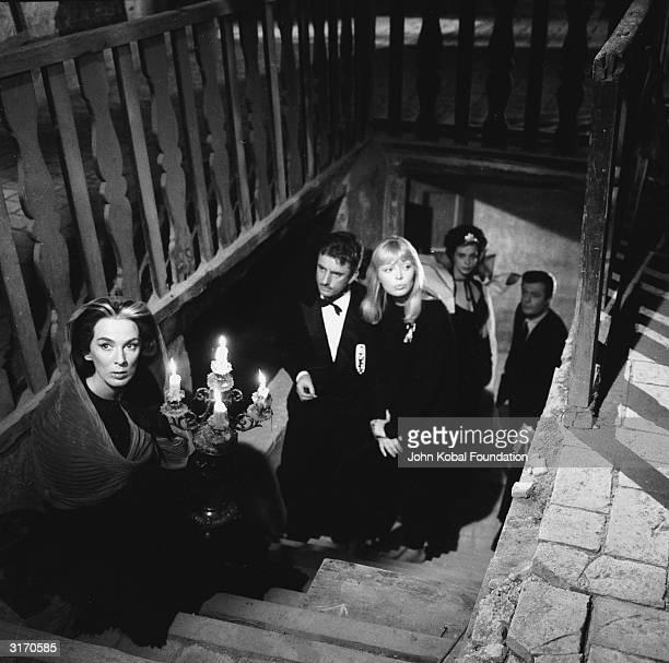 Germanborn actress and singer Nico plays a blonde model in the party scene from 'La Dolce Vita' directed by Federico Fellini She was credited as Nico...
