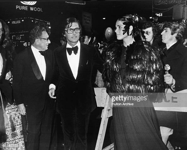 Germanborn American National Security Advisor and Nobel Peace Prize winner Henry Kissinger Academy Award winning Hollywood producer Robert Evans and...