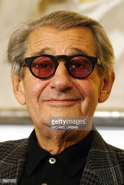 Germanborn Australian photographer Helmut Newton addresses a press conference in Berlin 22 October 2003 Newton a Jew who fled Berlin in 1938 donated...