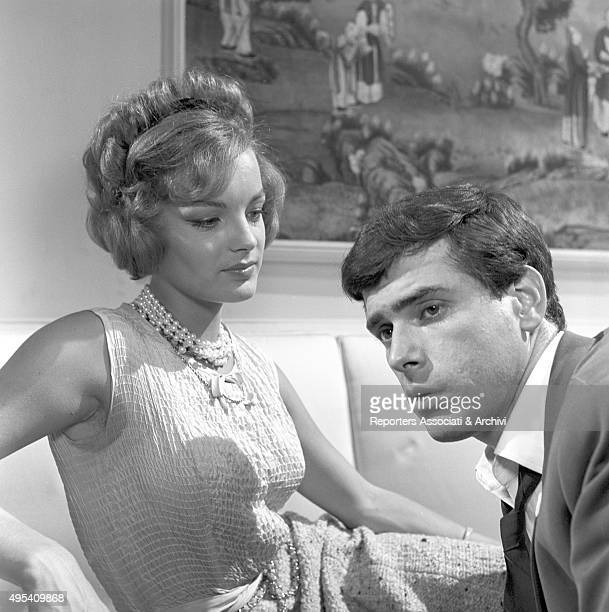 Germanborn French actress Romy Schneider looking at Cubanborn American actor Tomas Milian in the episode Il lavoro from the film Boccaccio '70 1961