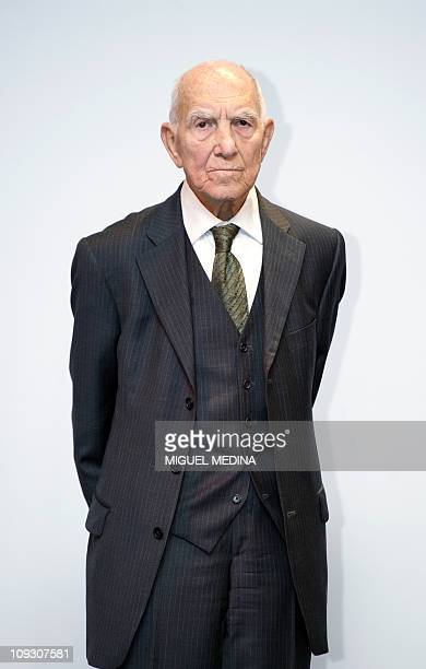 Germanborn French World War II resistance fighter and former ambassador Stephane Hessel author of the best seller 'Indignezvous ' receives the Frantz...