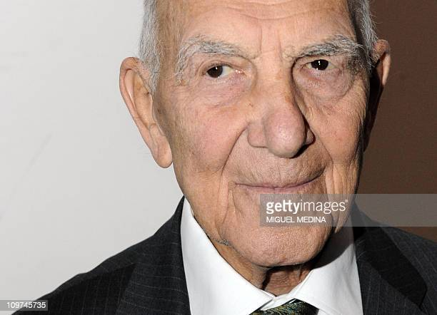 Germanborn French World War II resistance fighter and former ambassador Stephane Hessel author of the best seller 'Indignezvous ' poses after...