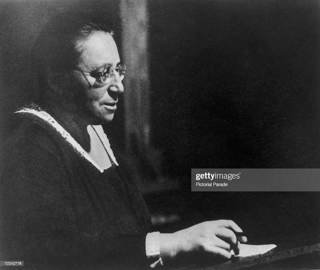 German-born mathematician Amalie 'Emmy' Noether (1882 - 1935), circa 1930.