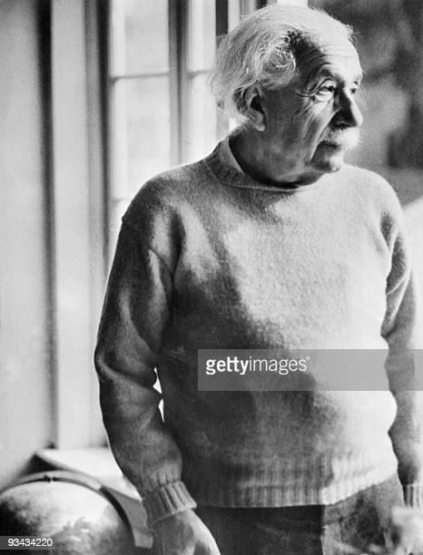 Germanborn SwissUS physicist Albert Einstein author of theory of relativity awarded the Nobel Prize for Physics in 1921 on his 75nd birthday 15 march...