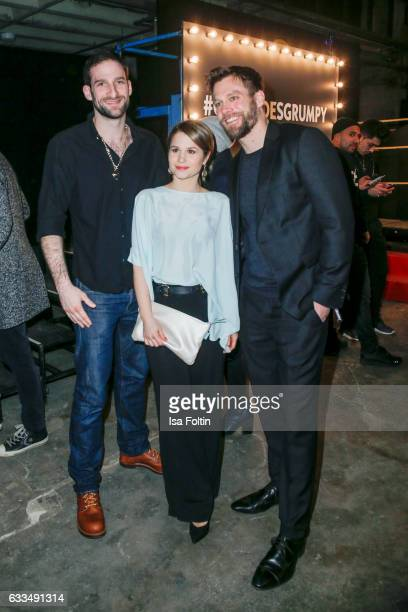 Germanbrasilian actress Cristina do Rego with her boyfriend german actor Matthias Weidenhoefer and german actor Ken Duken attend the Presentation of...