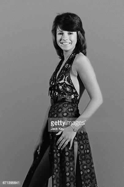 GermanBritish pop singer Ireen Sheer wearing a halterneck dress UK 24th November 1971
