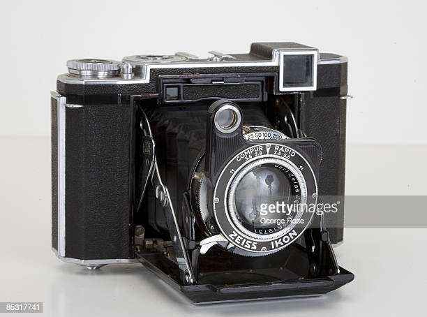 Germanmade Zeiss Ikon Super Ikonta 532/16 folding 120mm rangefinder camera with a Tessar 80mm f28 lens is seen in this 2009 Healdsburg California...