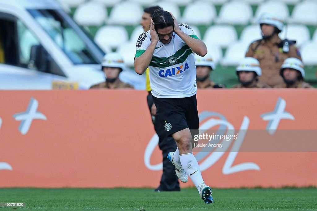 Germano of Coritiba during the match between Coritiba and Flamengo for the Brazilian Series A 2014 at Couto Pereira stadium on August 17, 2014 in Curitiba, Brazil.