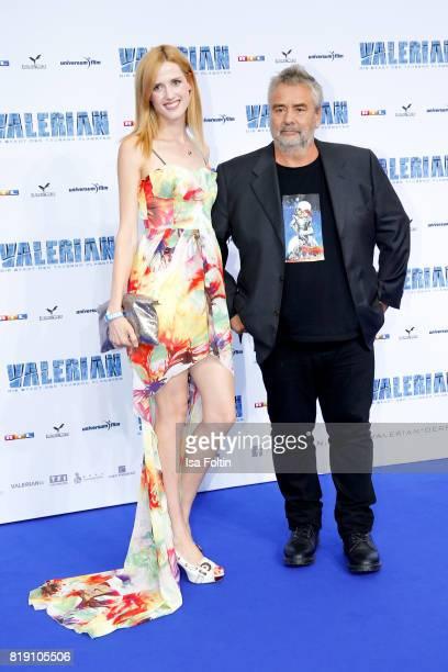 Germanturkish actress Wilma Elles and director Luc Besson during the 'Valerian Die Stadt der Tausend Planeten' premiere at CineStar on July 19 2017...