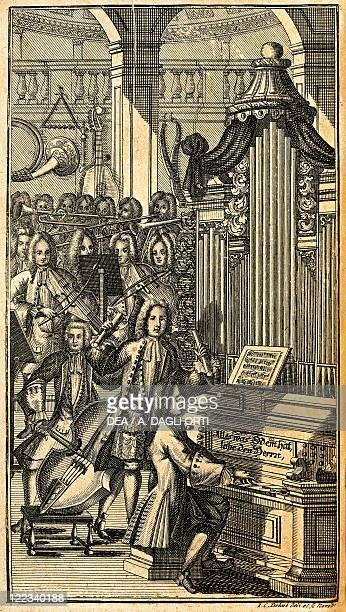 Germany 18th century A concert at the time of Johann Sebastian Bach MusikLexikon publishing Leipzig