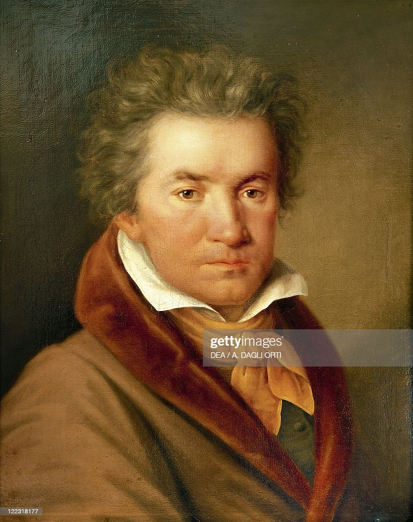 Germany - 18th-19th century. Portrait of <a gi-track='captionPersonalityLinkClicked' href=/galleries/search?phrase=Ludwig+van+Beethoven&family=editorial&specificpeople=67202 ng-click='$event.stopPropagation()'>Ludwig van Beethoven</a> (Bonn, 1770 - Vienna, 1827), German composer and pianist.