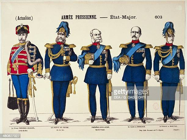 Germany 19th century FrancoPrussian War Prussian General Staff Friedrich Karl of Prussia Friedrich III William I Otto von Bismarck Helmuth von Moltke...