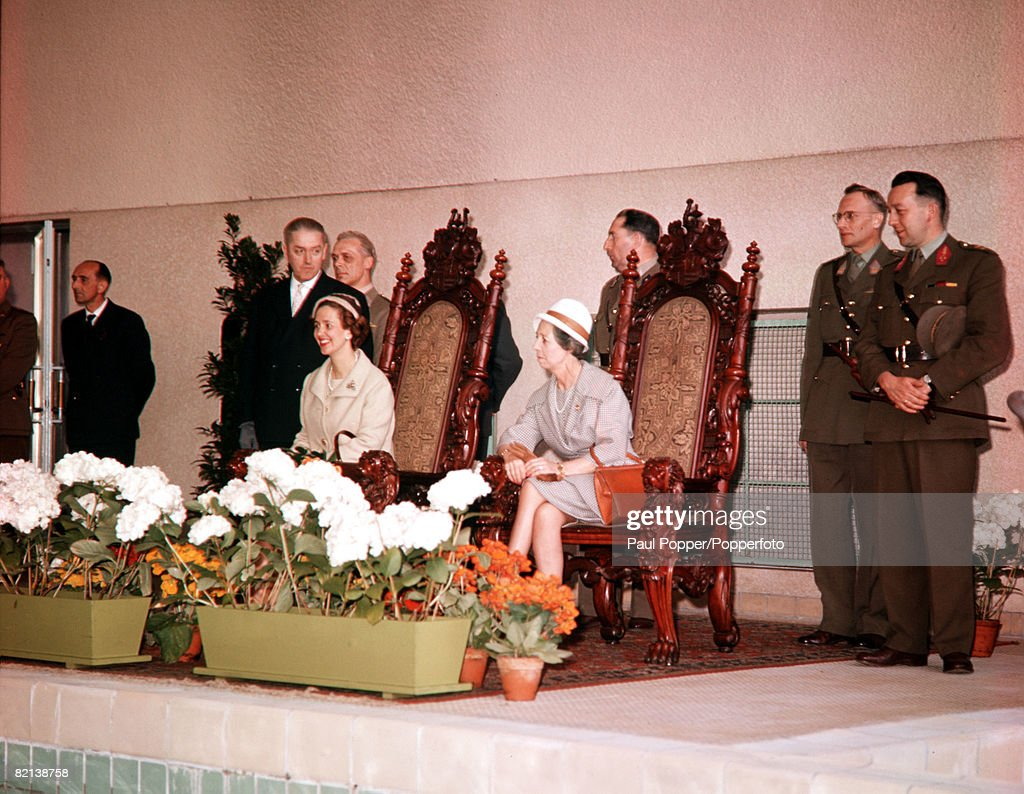 Germany 29th April 1961 Queen Fabiola of Belgium is pictured during her visit to the Belgium troops stationed in Germany