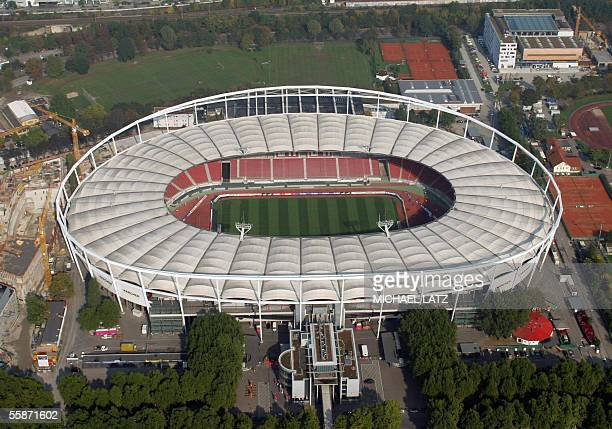 Aerial view of Stuttgart's GottliebDaimler stadium taken 07 October 2005 The GottliebDaimler stadium is one of the 12 stadia in Germany that will...
