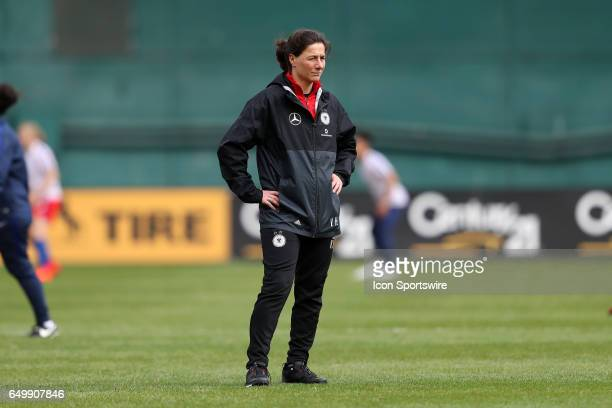 Germany assistant coach Verena Hagedorn The England Women's National Team played the Germany Women's National Team as part of the SheBelieves Cup on...
