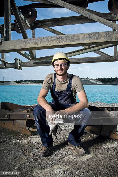 Germany, Augsburg, Worker smiling, portarit
