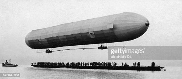 Germany avaition flight tests of the airship 'Graf Zeppelin' the airship ascending 1900
