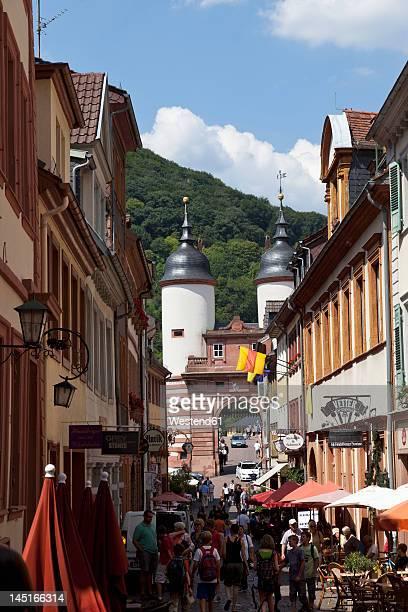 Germany, Baden Wuerttemberg, Heidelberg, People in old town