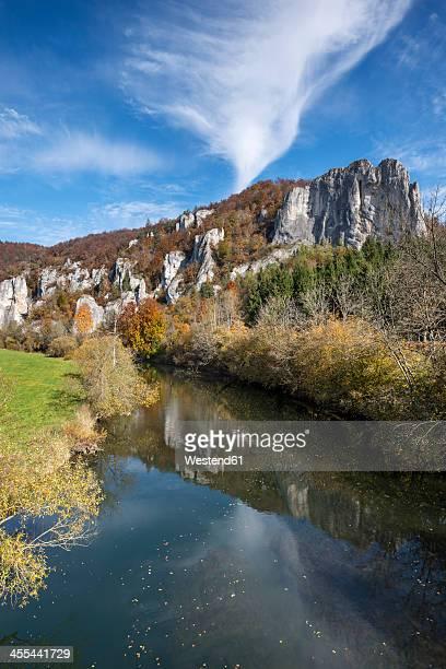 Germany, Baden Wuerttemberg,  Rock of Hausener Zinnen