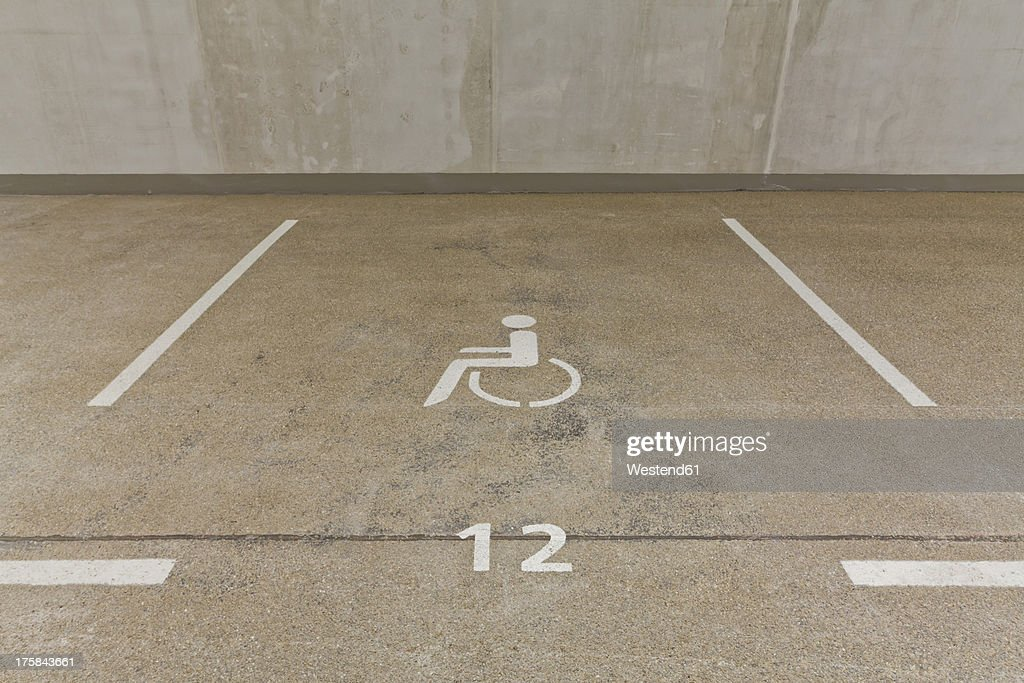 Germany, Baden Wuerttemberg, Stuttgart, Car park area for handicapped people