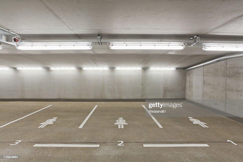 Germany, Baden Wuerttemberg, Stuttgart, Car park area for women