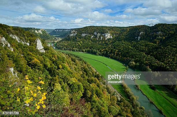 Germany, Baden Wuerttemberg, View from Eichfelsen of Danube Valley