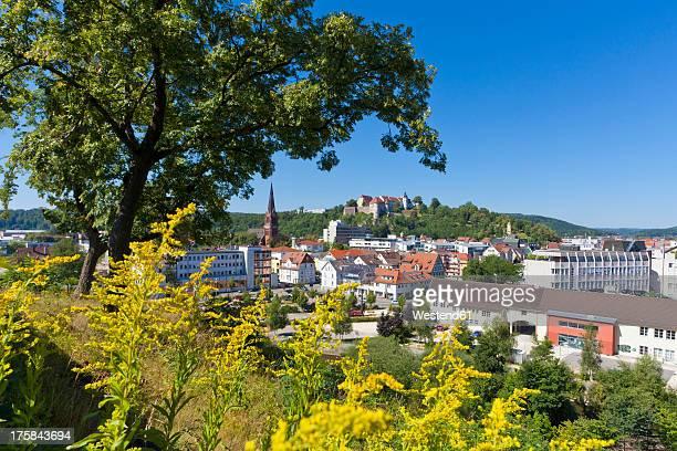 Germany, Baden Wuerttemberg, View of Hellenstein Castle at Heidenheim an der Brenz