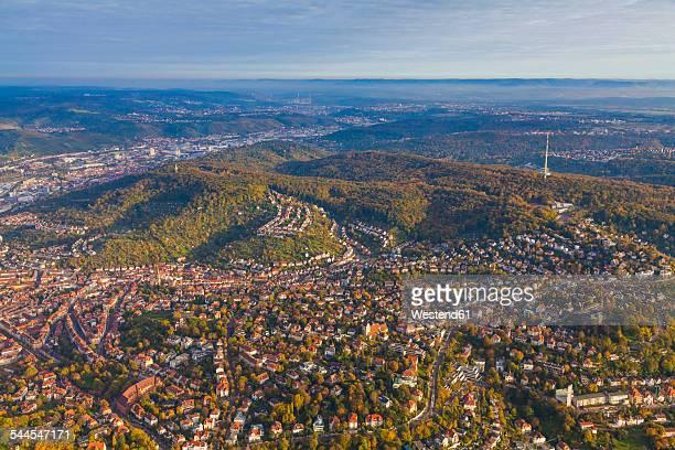Germany, Baden-Wuerttemberg, aerial view of Stuttgart