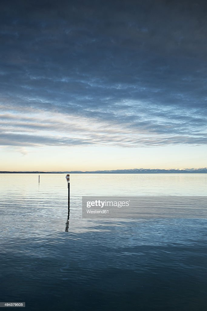 Germany, Baden-Wuerttemberg, Constance district, Constance, Lake Constanze, in the background Alps