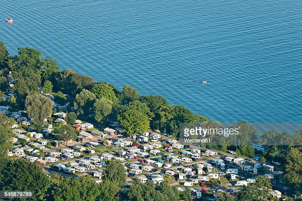Germany, Baden-Wuerttemberg, Lake Constance, Kressbronn, camping ground at lakeshore