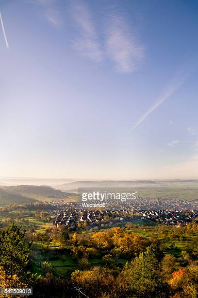 Germany, Baden-Wuerttemberg, Nature Park Schoenbuch, Swabian Alb, View to Entringen