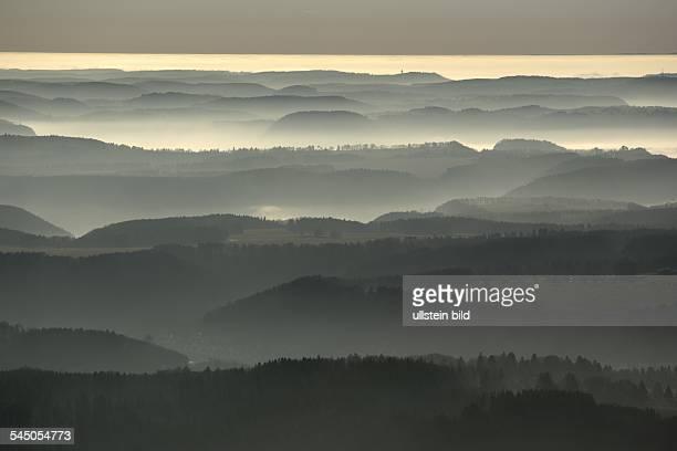 Germany BadenWuerttemberg Schwaebische Alb view to the alps