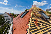 Germany, Baden-Wuerttemberg, Stuttgart, Construction of roof