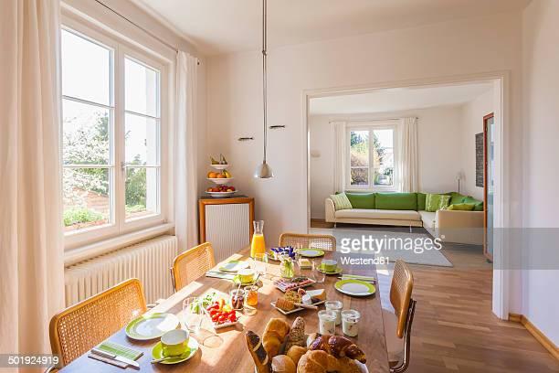 Germany, Baden-Wuerttemberg, Stuttgart, laid breakfast table