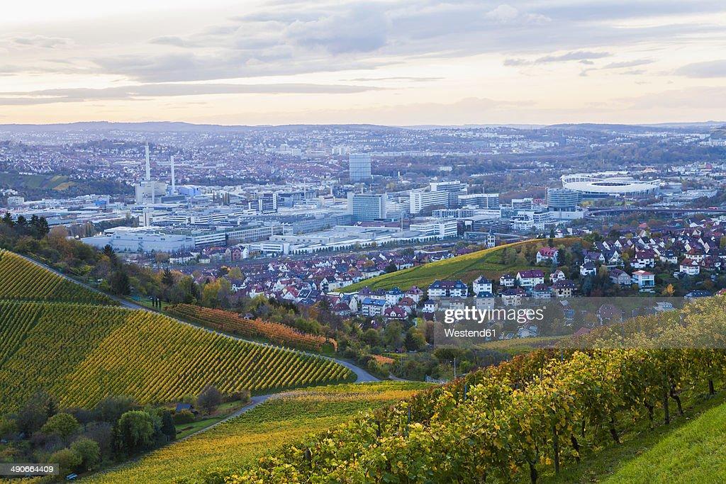 Germany, Baden-Wuerttemberg, Stuttgart, view to industrial area of Untertuerkheim