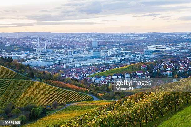 Germany, Baden-Wuerttemberg, Stuttgart, view to industrial area of Untertuerkheim