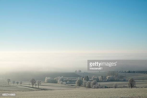 Germany, Baden-Wuerttemberg, Tuttlingen district, view to Lake Constance, fog