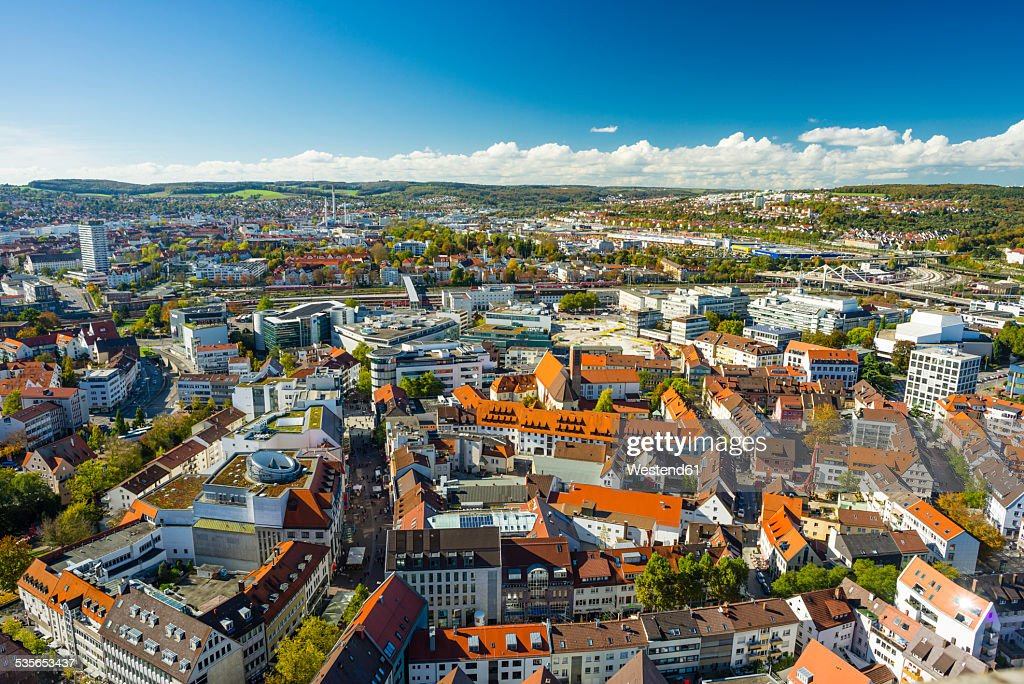 germany badenwuerttemberg ulm cityscape stock photo getty images. Black Bedroom Furniture Sets. Home Design Ideas