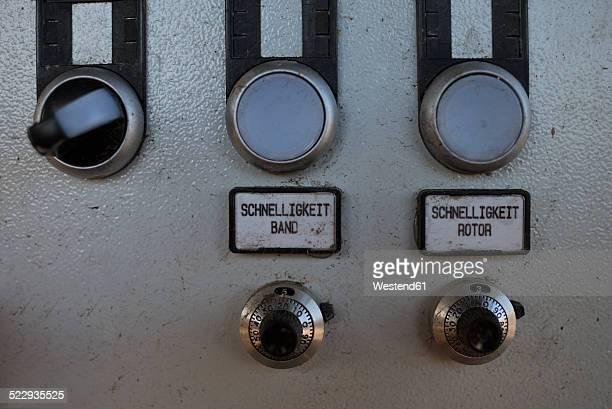 Germany, Baden-Wurttemberg, incinerator TREA Breisgau, switchboard